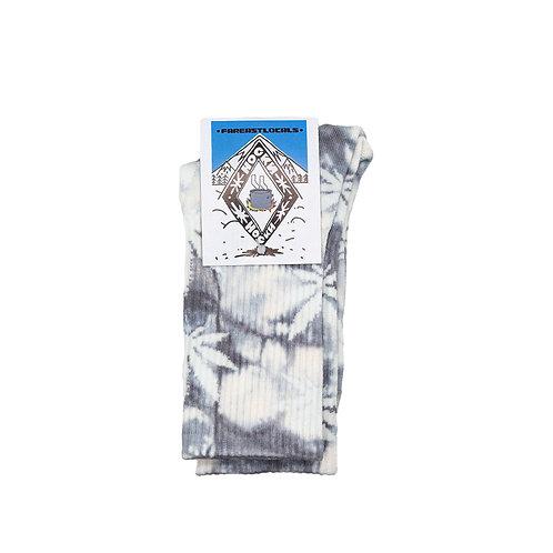 Носки вареные Листик серый