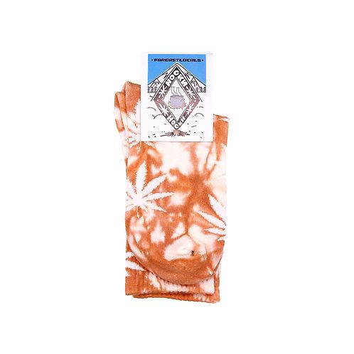 Носки вареные Листик коричневый