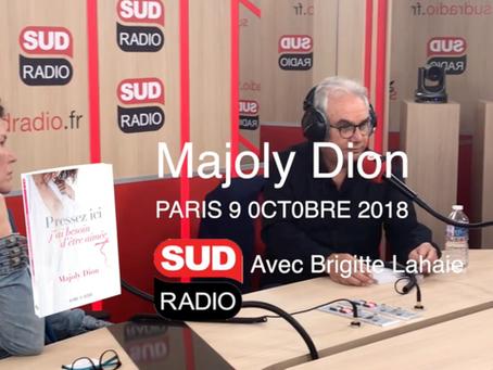 Entrevue SUD RADIO Paris, avec Brigitte Lahaie et Majoly Dion