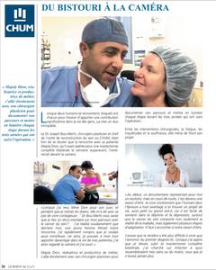Article sur le parcours de Majoly Dion et son chirurgien plasticien Dr Bou-Mehri