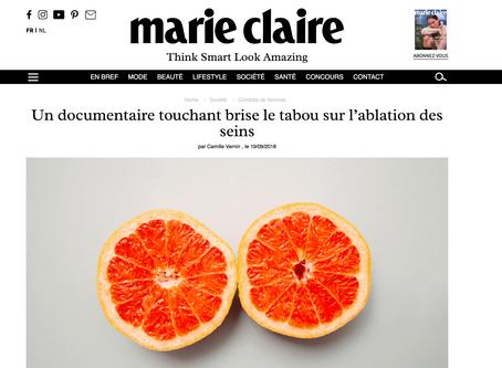 Le magazine Marie Claire en France parle du documentaire de Majoly Dion, réalisatrice et auteure.