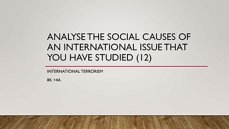 Analyse the social causes of internation