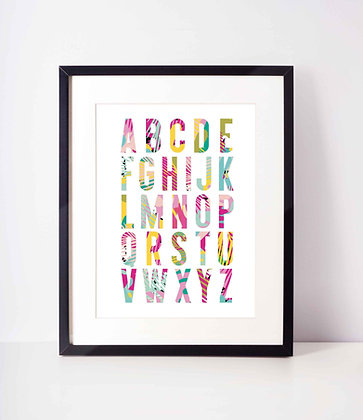 Tropical Alphabet Print