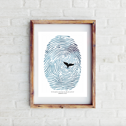 Bible Verse Fingerprint Jeremiah Print