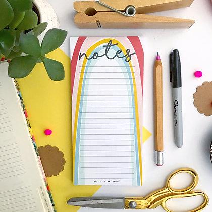 Rainbow Notes Notepad