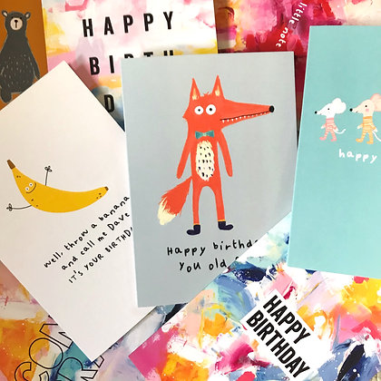 Mixed 5 Birthday Card Bundle FREE UK DELIVERY