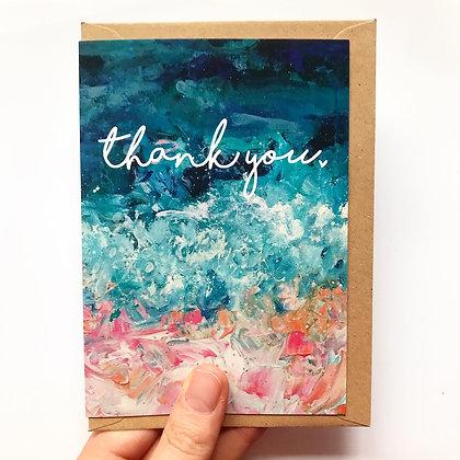 'Thank You' Arty A6 Card