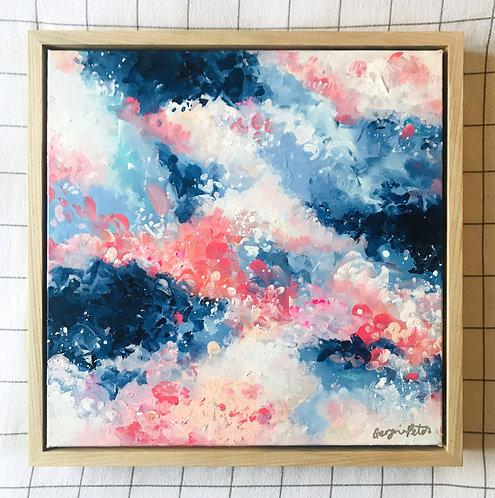 'Clouds of Blossom' 40cm x 40cm Framed Mini