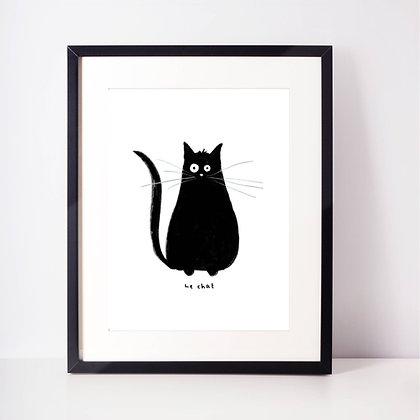 'Le Chat' Illustration Print