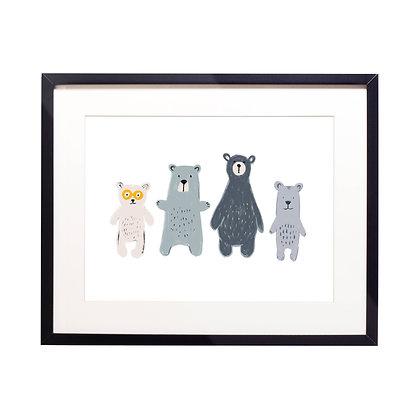 Bear Family Illustration Print