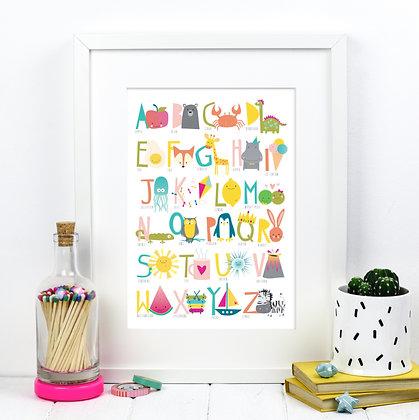 Original Alphabet A4 Print