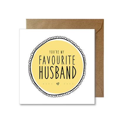 FH019 FAVOURITE HUSBAND Card