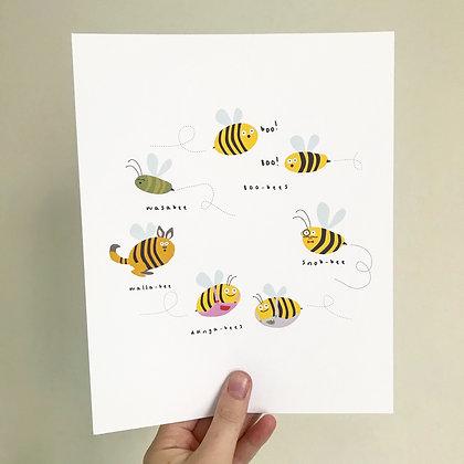 Rare Bees Print