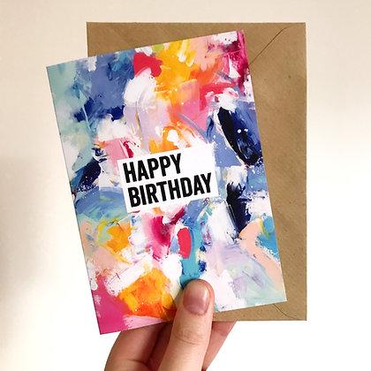 'Happy Birthday' Arty Card