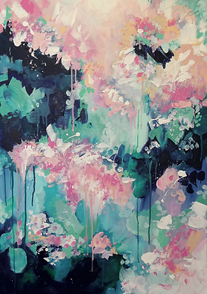 'Rain Blossom' Limited Edition Abstract Art Print