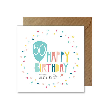 BFI015 BIRTHDAY 50 Card