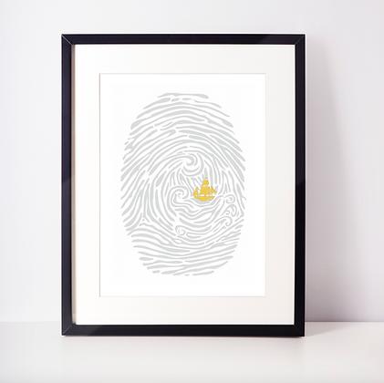 Gold Foil Bible Verse Fingerprint Print