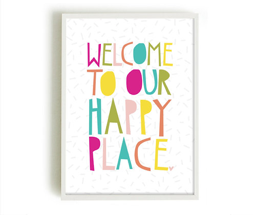 OUR HAPPY PLACE A4 PRINT