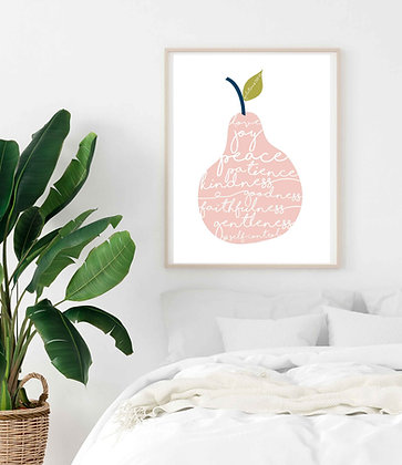 Fruit of the Spirit Pear Print