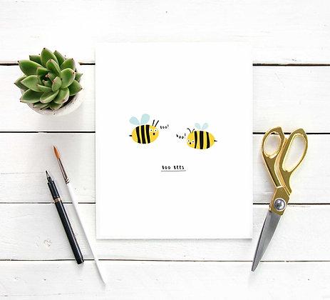 Boo Bees Print