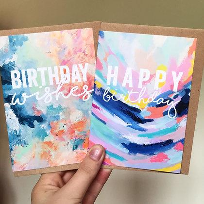 Arty Birthday Card Set