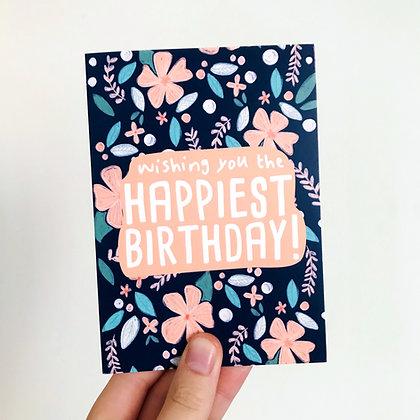'Wishing you the Happiest Birthday' Card