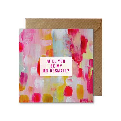 AWB026 BRIDESMAID Card