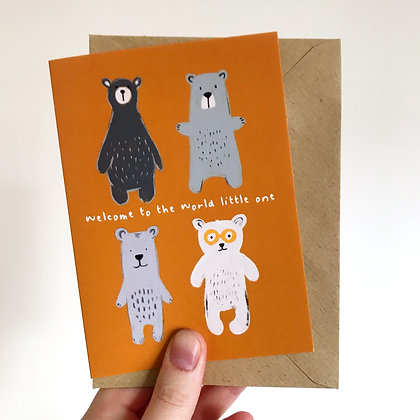 'Welcome to the World' Bear Baby Card