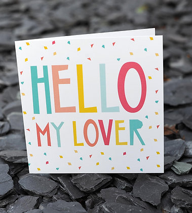 HELLO MY LOVER CARD