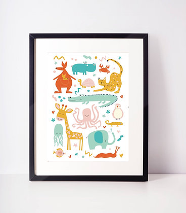 'All creatures great and small' Print