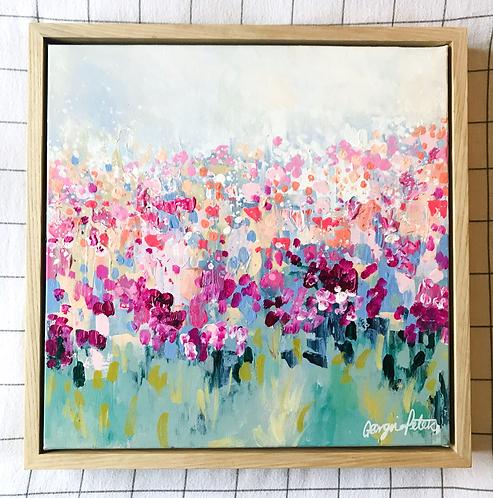'Spring Blossom' 40cm x 40cm Framed Mini