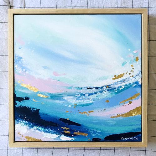 'Golden Wave' 40cm x 40cm Framed Mini