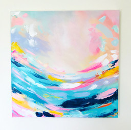 'Miami Wave 2' 60cm x 60cm