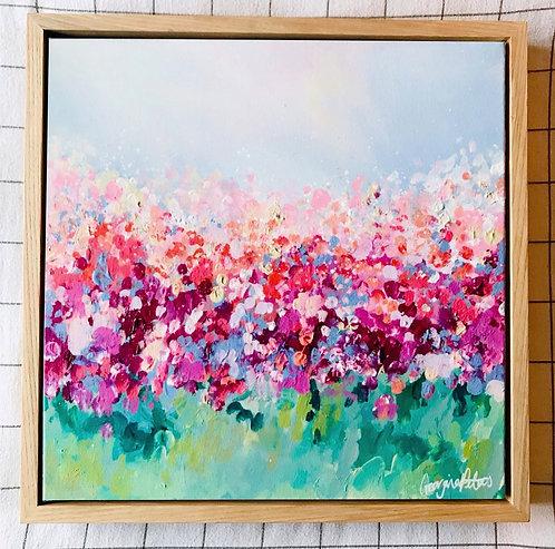 'Spring Blossom 2' 40cm x 40cm Framed Mini