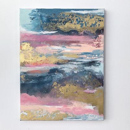 'Golden Twilight' 30 x 40cm Original Painting on canvas
