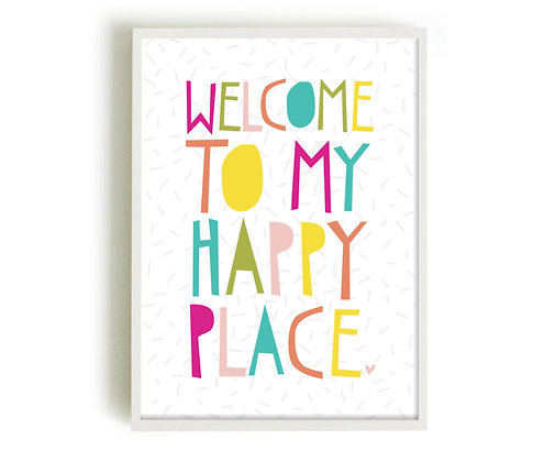 HAPPY PLACE A4 PRINT