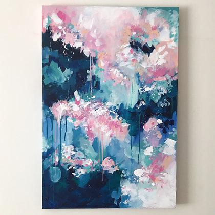 'Rain Blossom' 60 x 90cm Original Painting on canvas