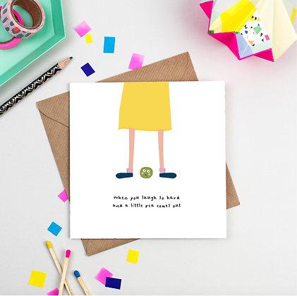 Funny Little Pea Card