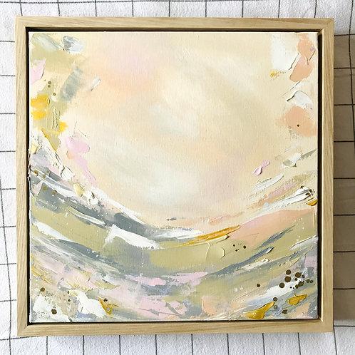 'Spring Meadow' 40cm x 40cm Framed Mini