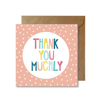 TY059 THANK YOU MUCHLY Card