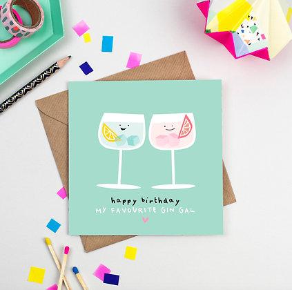 Happy Birthday Gin Gal Card