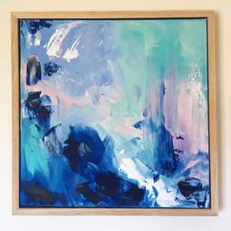 'Blue Lagoon' 40cm x 40cm