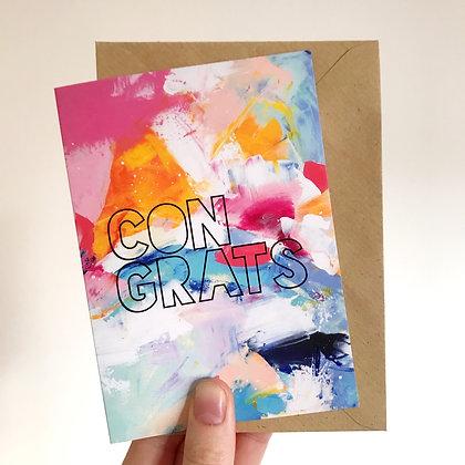 'Congrats' Arty Card