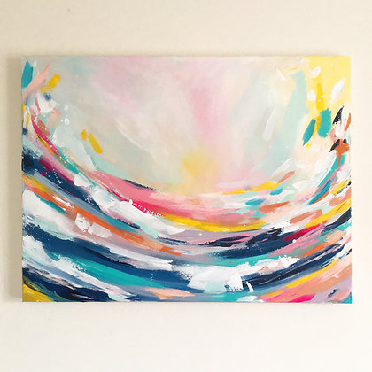 Wait and See' 60 x 80cm Landscape Painting on canvas