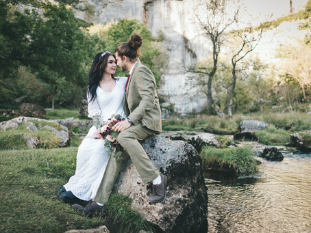Malham Cove Elopement Styled Shoot