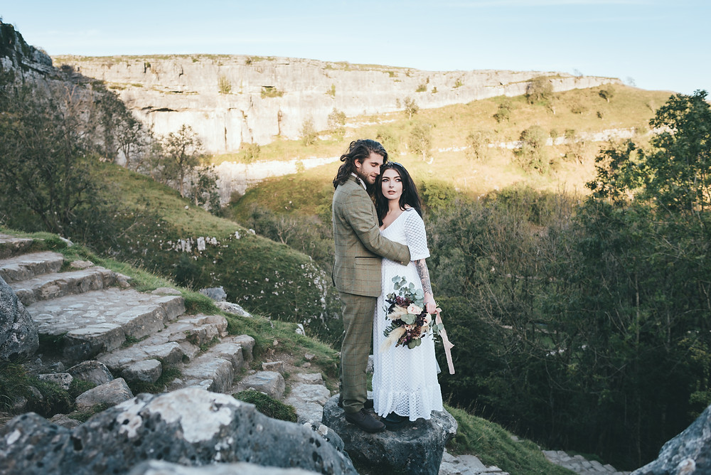 Malham Cove elopement wedding photography
