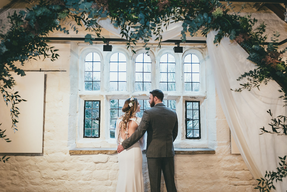 Bride and groom at Ilkley Manor House wedding