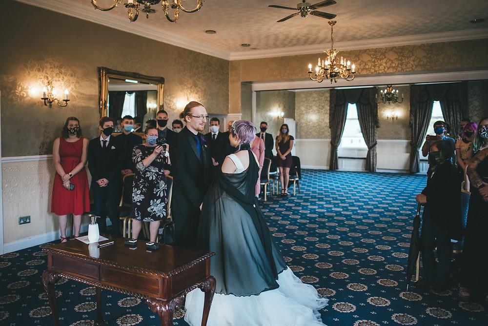 Alex & Brandon get married at Waterton Park Hotel in Wakefield