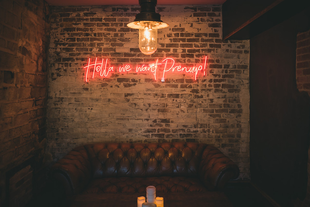 Neon Sign - Yorkshire Mill Wedding Venue