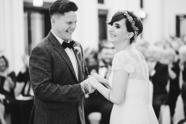 Bride & Groom exchange vows during their